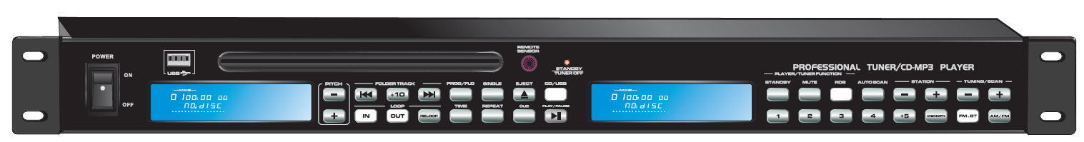 CD/Mp3 Player with Tuner FTD-15CD